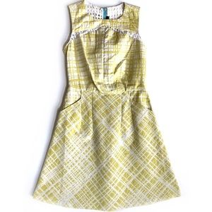 W118 Walter Baker yellow dress with eyelet back